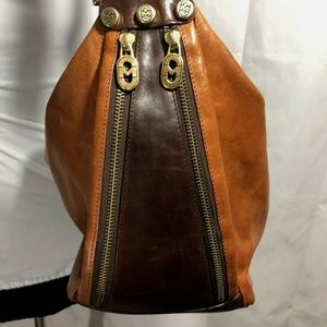 Marino Orlandi Backpack Brown Leather Purse